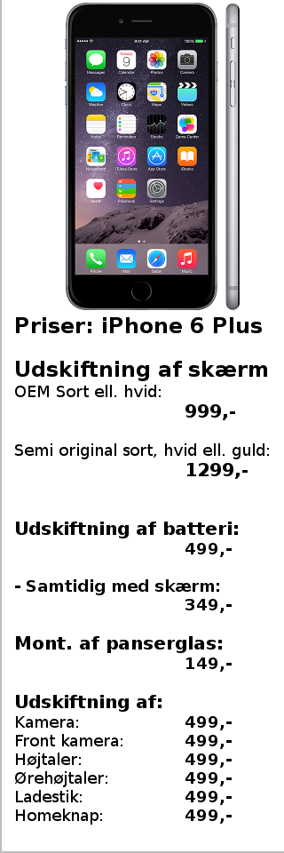 Priser - iPhone 6 Plus